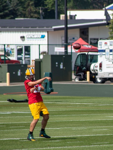 aaron rodgers packers training camop